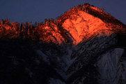 鳥甲山の夜明け