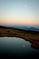 苗場山頂から臨む明月